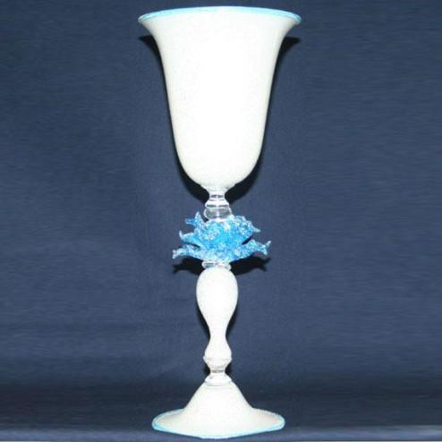 """""""Fiore di Neve"""" vaso en cristal de Murano"""