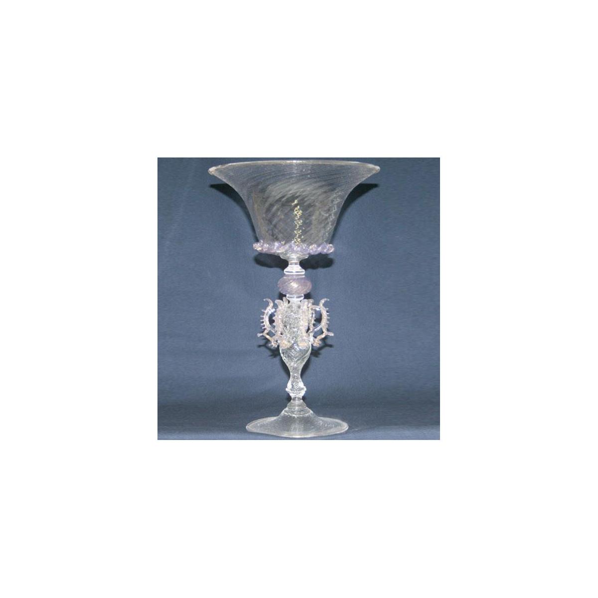 """""""Coppa della Regina"""" vaso en cristal de Murano - transparente"""
