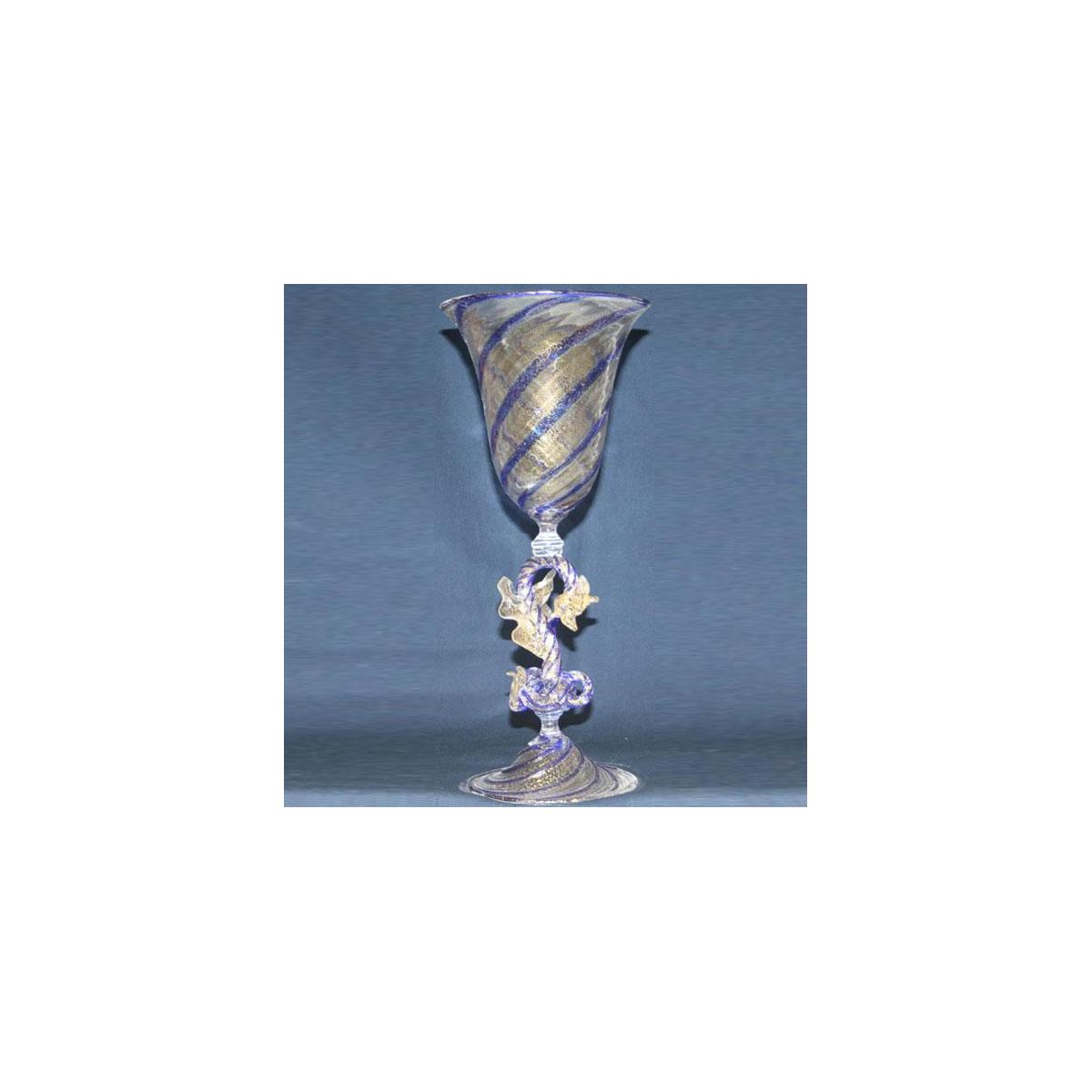"""""""Tradizione"""" Murano drinking glass - purple"""