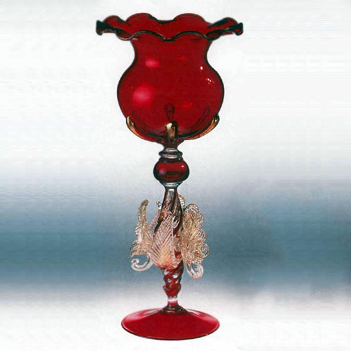 """Moriarti"" vaso en cristal de Murano - rojo"