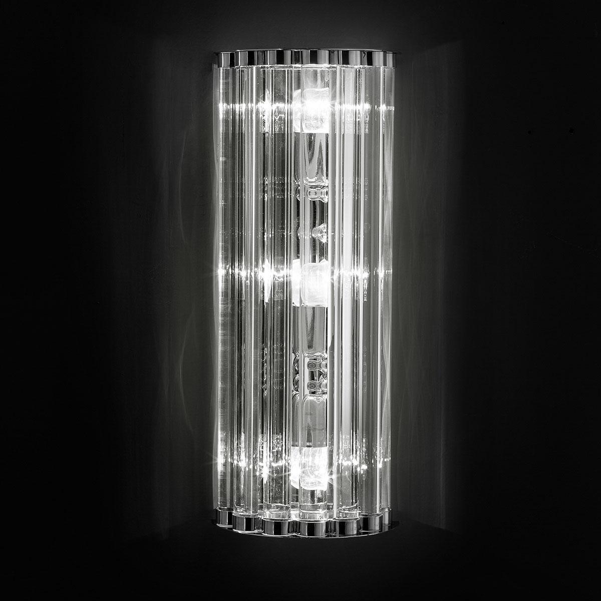 """""""Ovalino"""" applique en verre de Murano - transparent"""