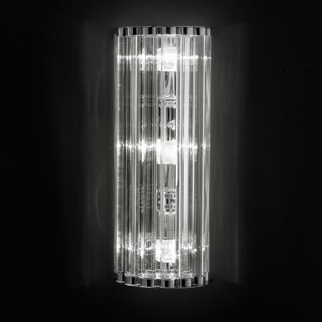 """Ovalino"" Murano glass sconce - transparent"
