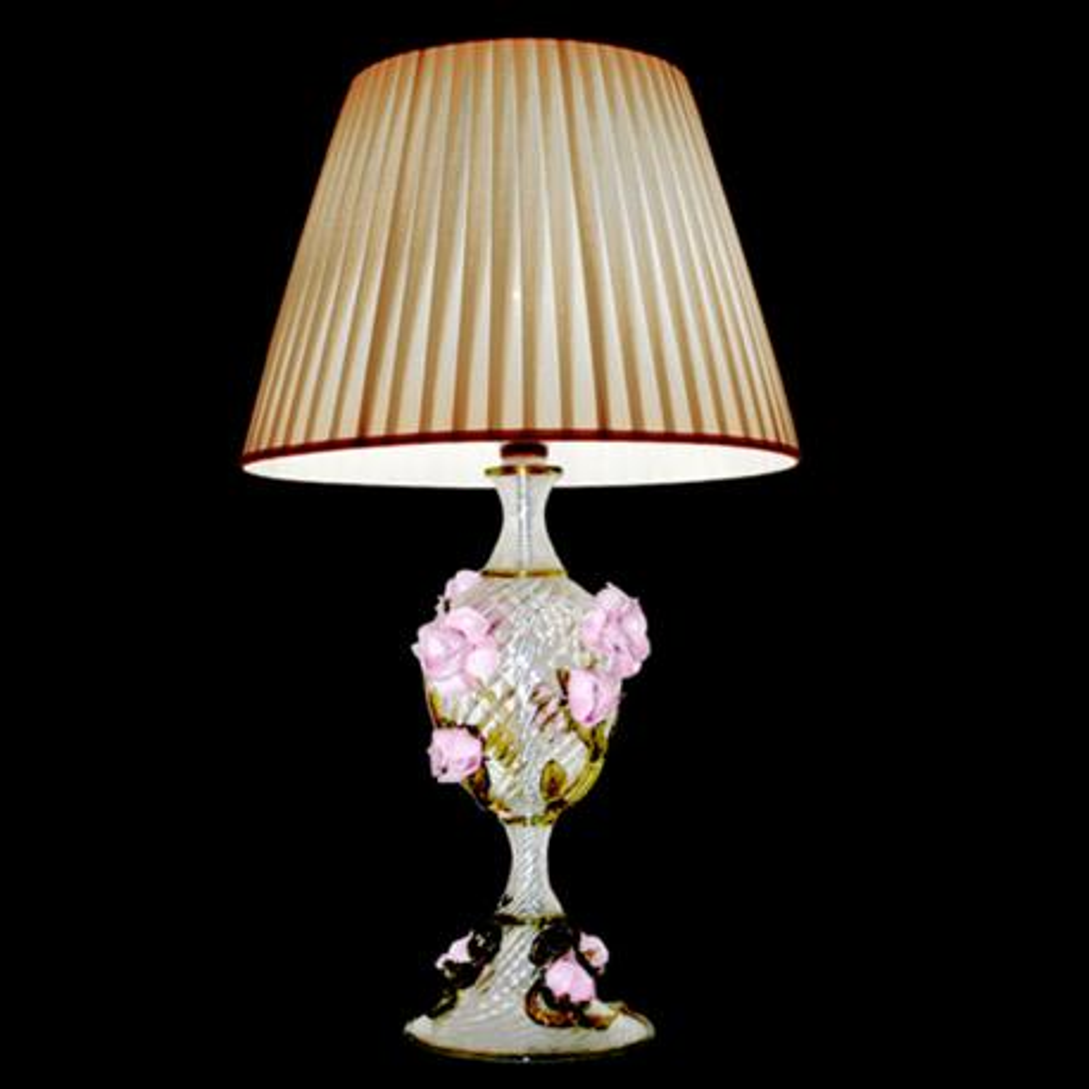 """Rose"" lampara de sobremesa de Murano - transparente"