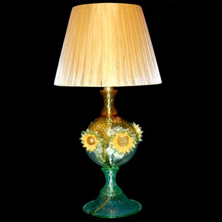 """Girasole"" Murano glass table lamp - green"