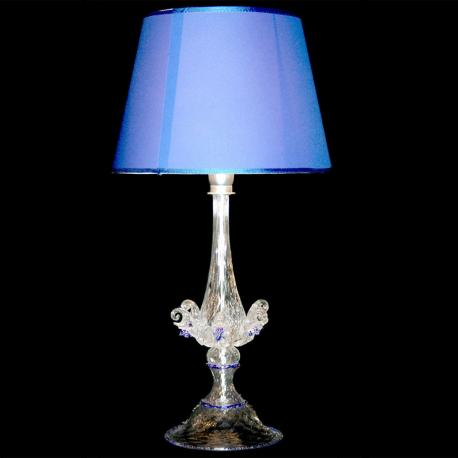 """Primizia"" Murano glass table lamp - transparent"