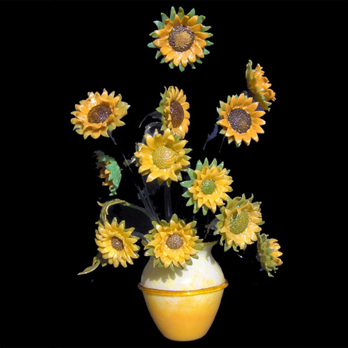 """""""Girasoli"""" Murano glass table lamp - sunflowers"""