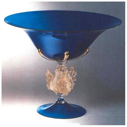 """""""Corneo"""" bol sur le pied en verre de Murano"""