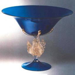 """Corneo"" Murano glass fruitstand"