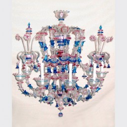 """Piovra"" Murano glass chandelier"