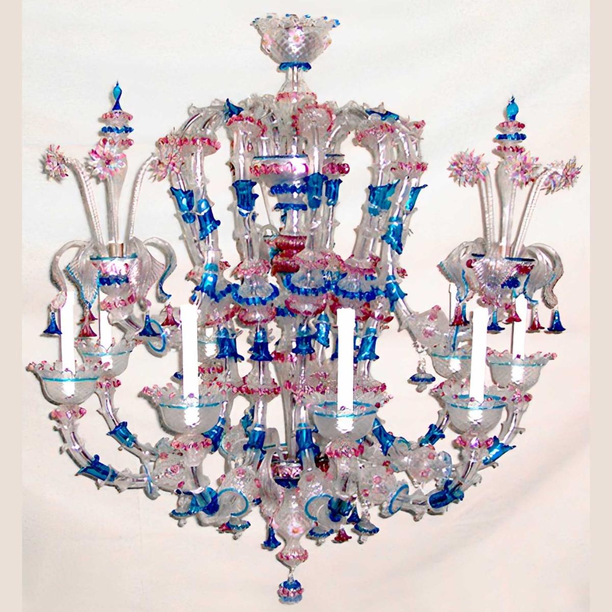 Piovra 9 lumières lustre en verre de Murano