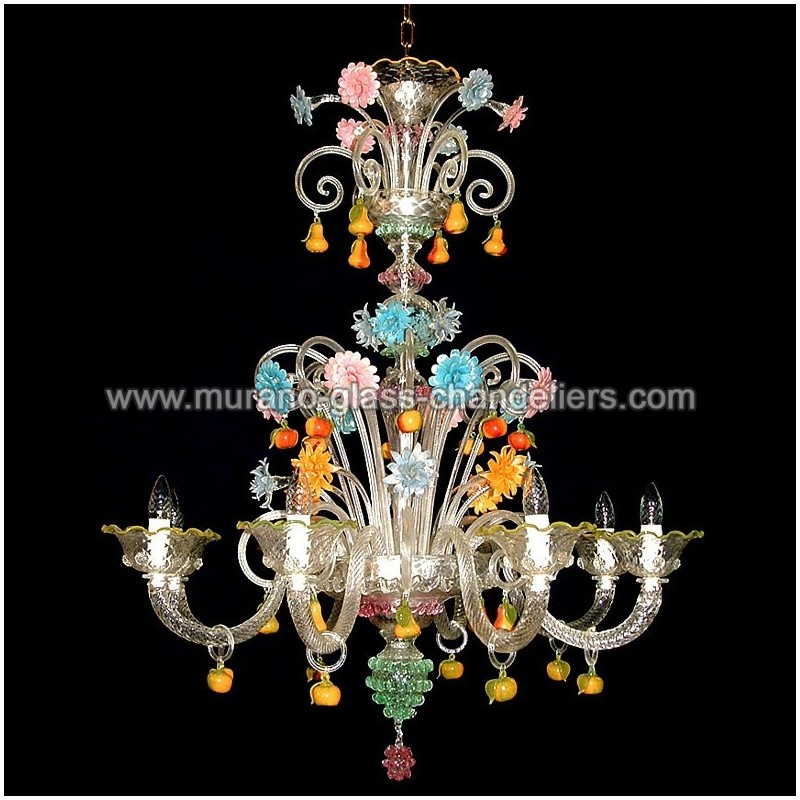 girasole floral chandeliers murano sunflowers en chandelier glass