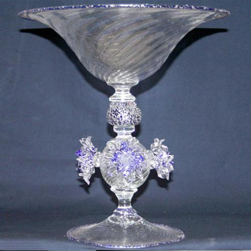 """""""Gelo"""" bol sur le pied en verre de Murano"""