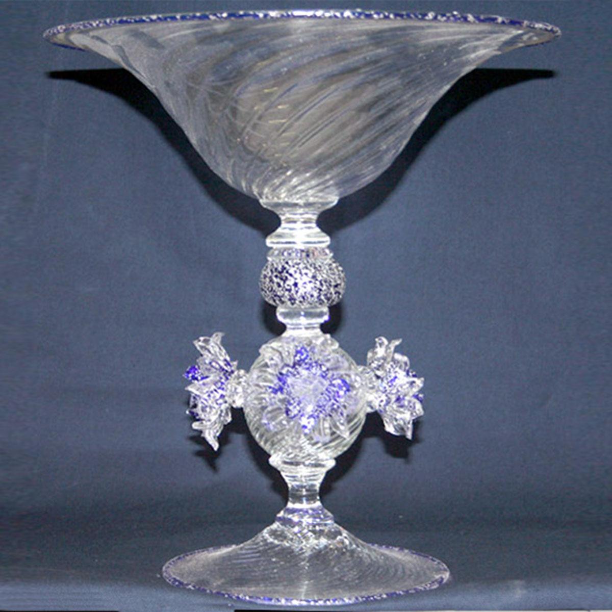 """""""Gelo"""" bol sur le pied en verre de Murano - transparent"""