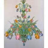"""Iris Verde"" Murano glass chandelier"