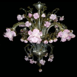 Delicato 8 lights Murano glass chandelier