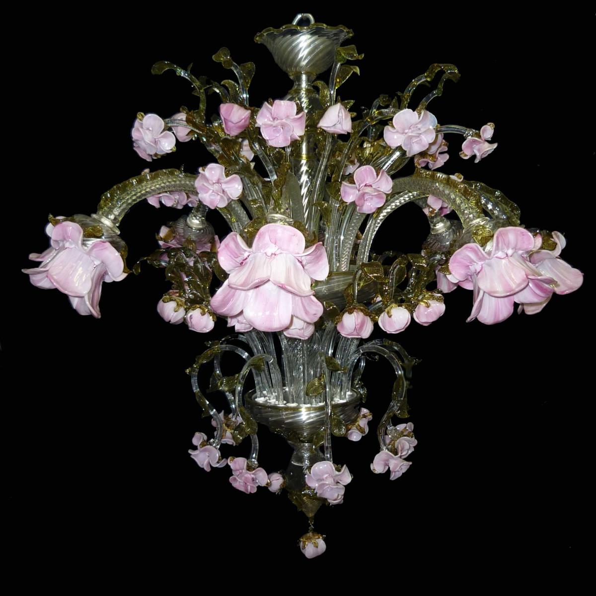 Delicato 8 lights Murano glass chandelier