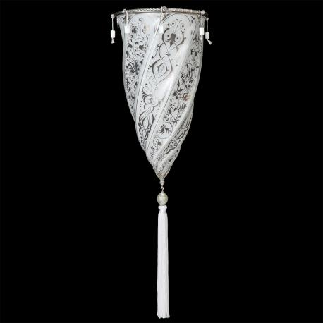 """Damasco"" Murano glass sconce - 1 light - white"