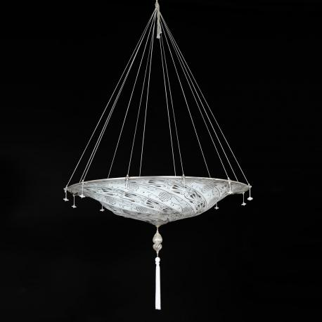 """Dubai"" Murano glass pendant light - 3 lights - white"