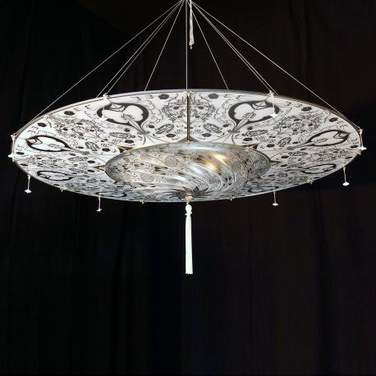 """Betlemme"" lámpara colgante en cristal de Murano - 3 luces -"