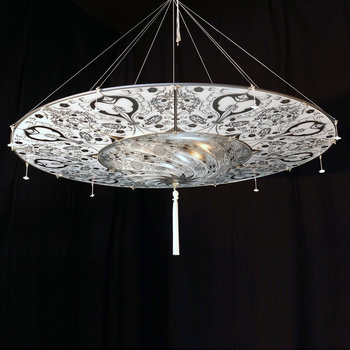 """""""Betlemme"""" Murano glass pendant light - 3 lights -"""