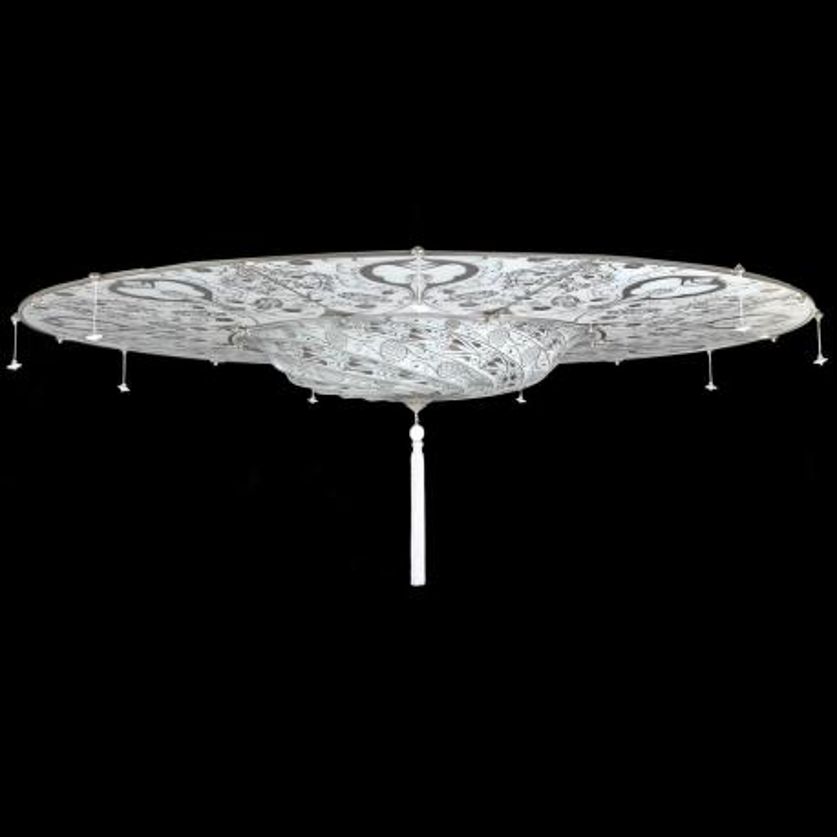 """""""Betlemme"""" lampara de techo de Murano - 3 luces - blanco"""
