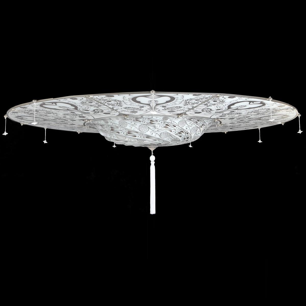 """""""Betlemme"""" plafonnier en verre de Murano - 3 lumières - blanc"""