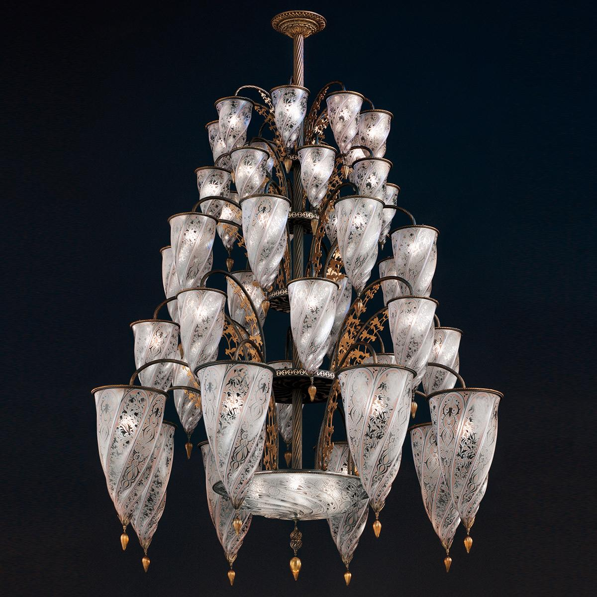 single socket listings with silk chandelier furniture fortuny mariano lighting vintage and pendants chandeliers wired