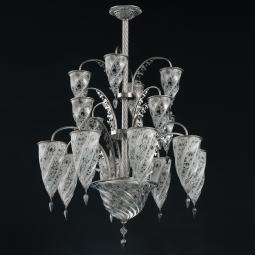 """Luxor"" Murano glass chandelier"