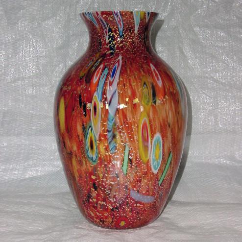 """""""Pablito"""" jarrón de Murano - Grande - rojo y policromo"""