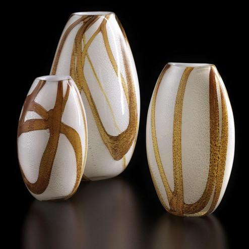 """""""Duccio"""" vase en verre de Murano - bambou"""