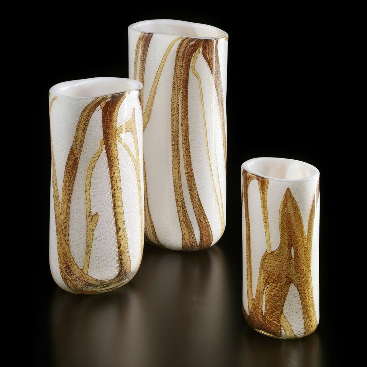 """Wisdom"" vase en verre de Murano - bambou"