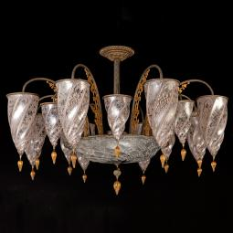 """Ismailia"" Murano glass chandelier - 17 lights - neutral"