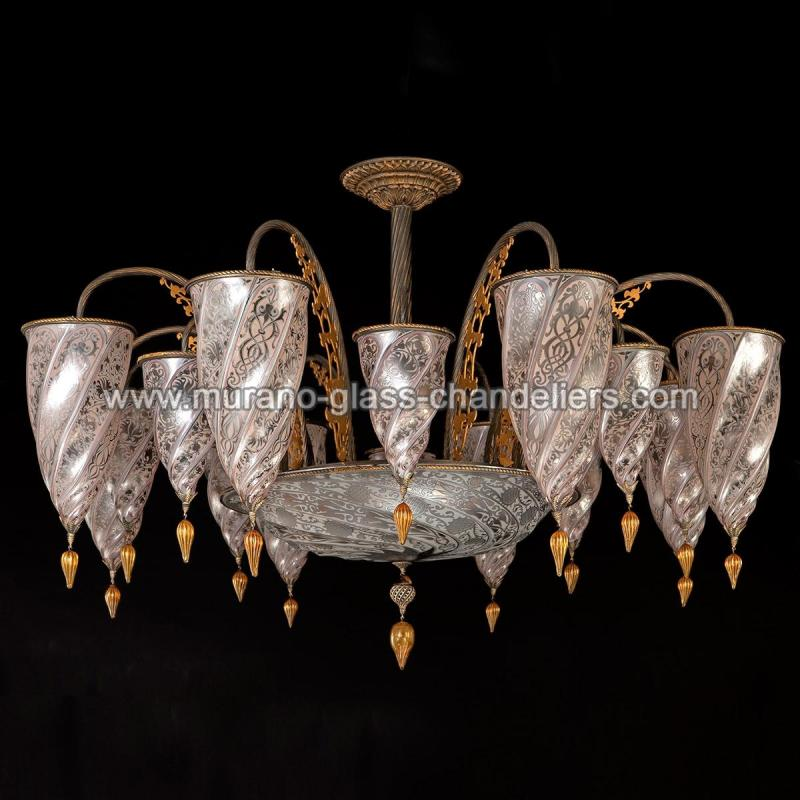 ismailia lustre en cristal de murano murano glass chandeliers. Black Bedroom Furniture Sets. Home Design Ideas