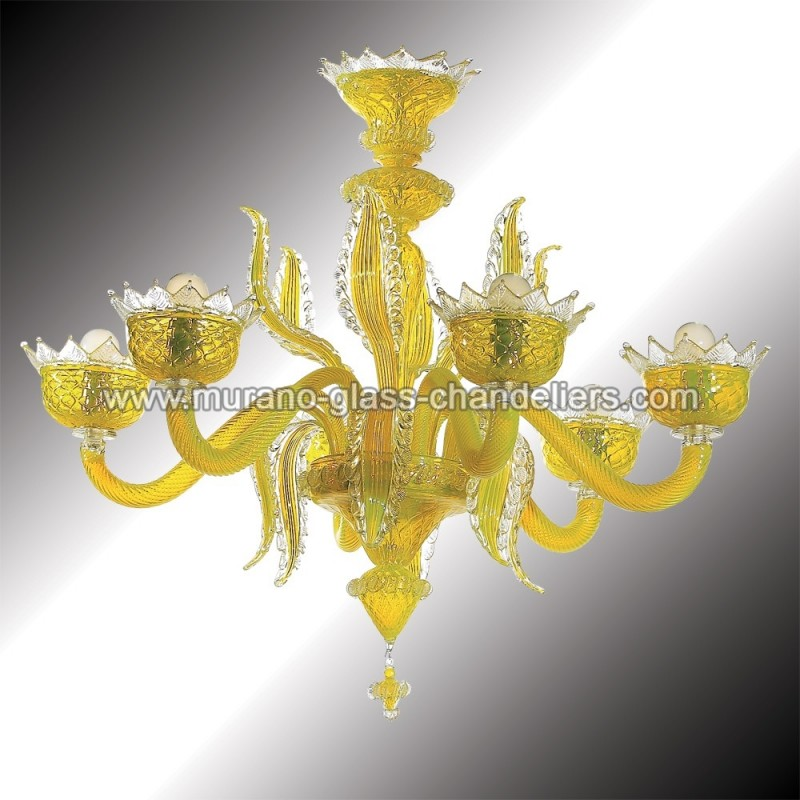 Topazio yellow murano glass chandelier murano glass chandeliers topazio 6 lights yellow murano glass chandelier aloadofball Gallery