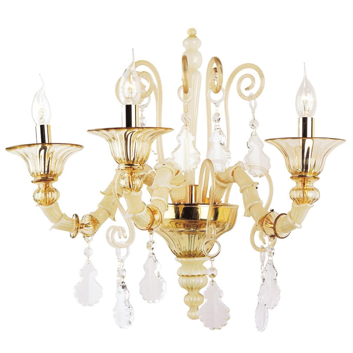 """Irene"" Murano glass sconce - 3 lights -"