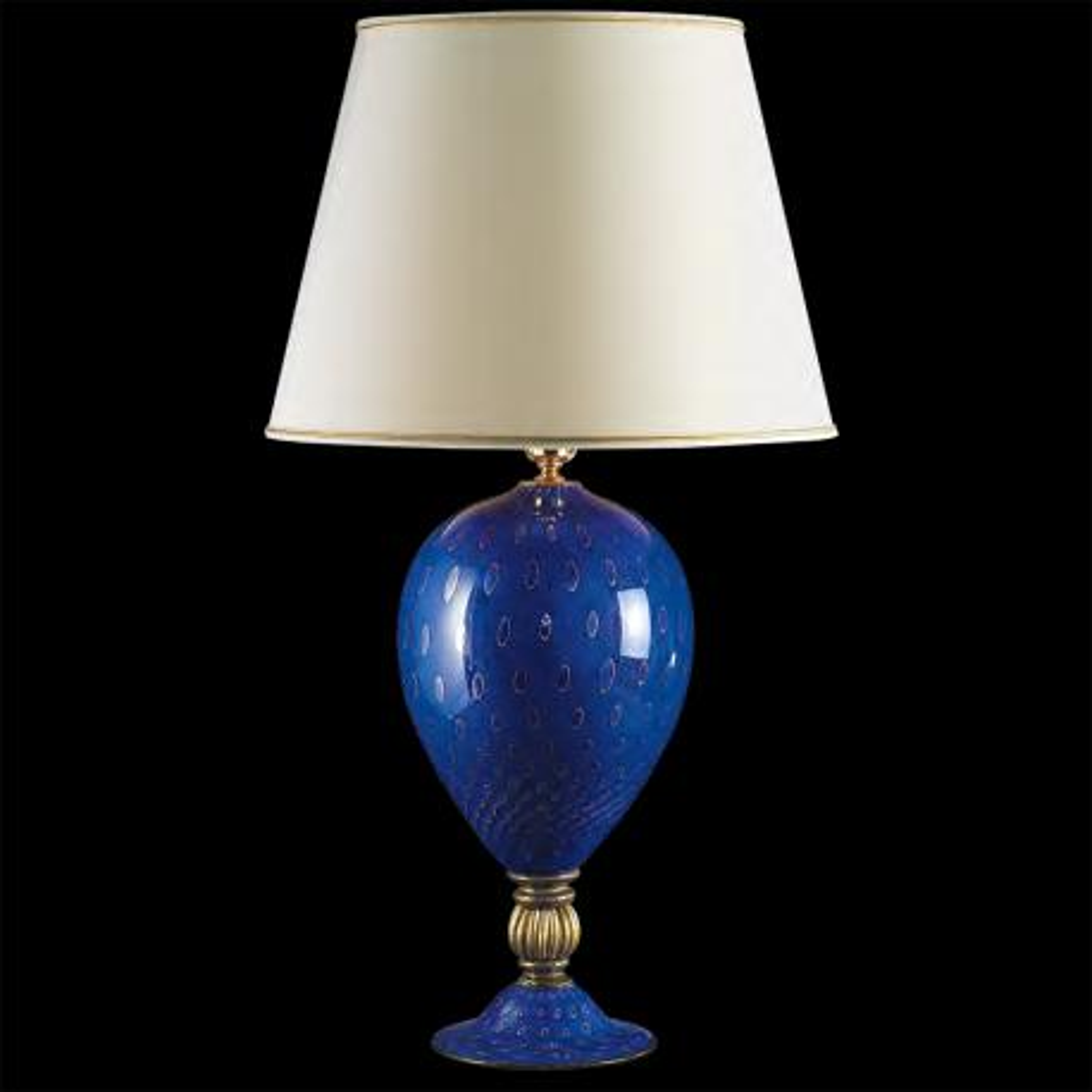 """Isidora"" lampe de table en verre de Murano - bleu"