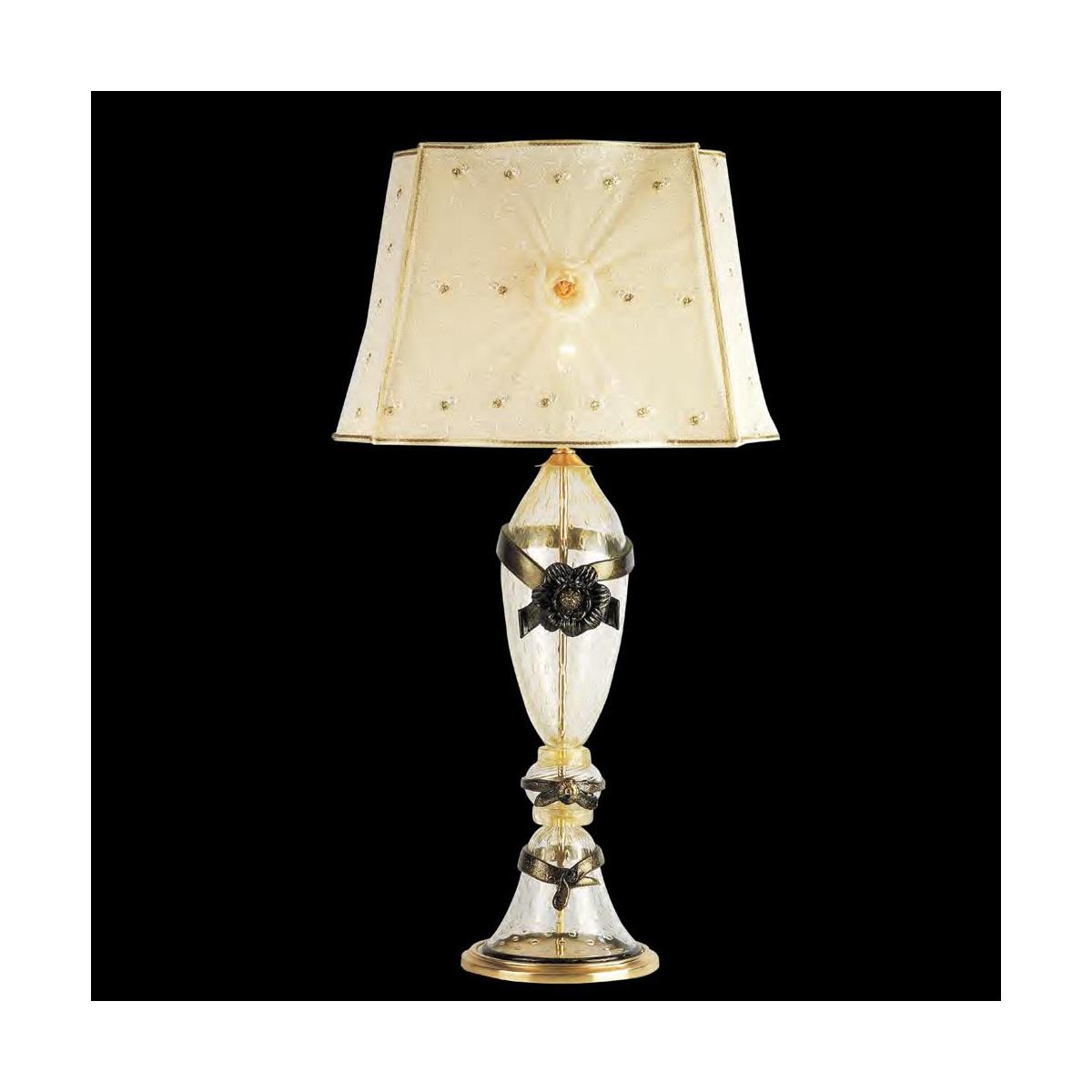 """Dono"" Murano glass table lamp - gold"