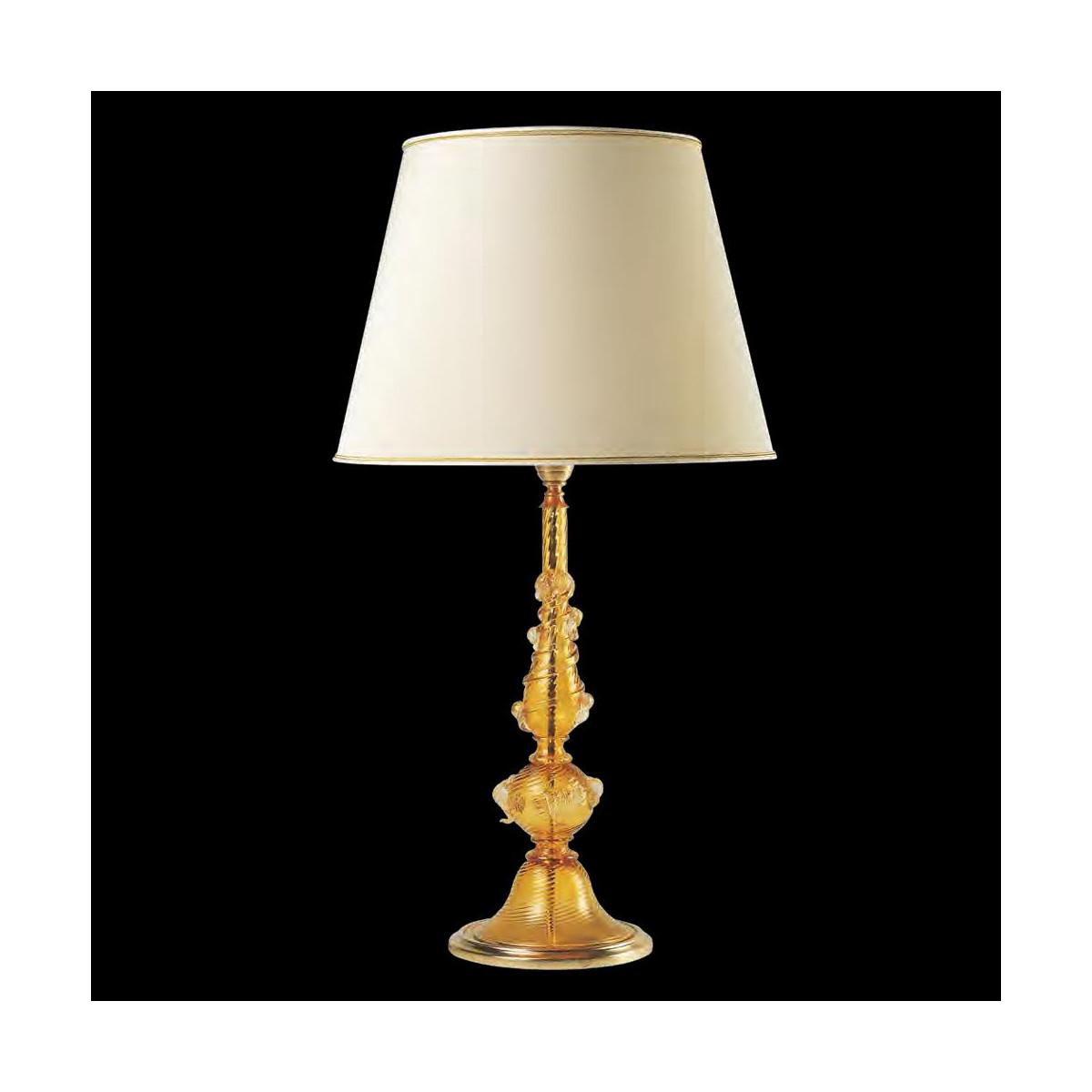 """""""Irina"""" lampara de sobremesa de Murano - ámbar"""