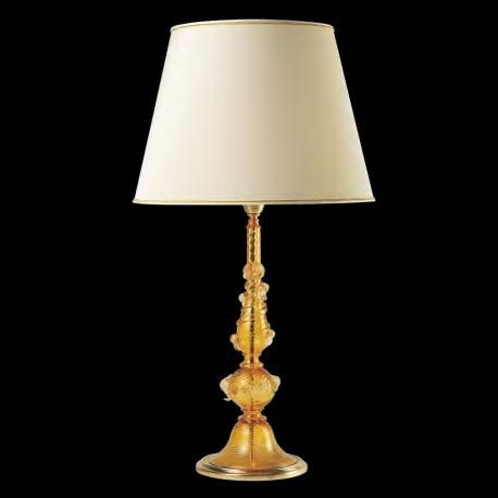 """Irina"" Murano glass table lamp - amber"