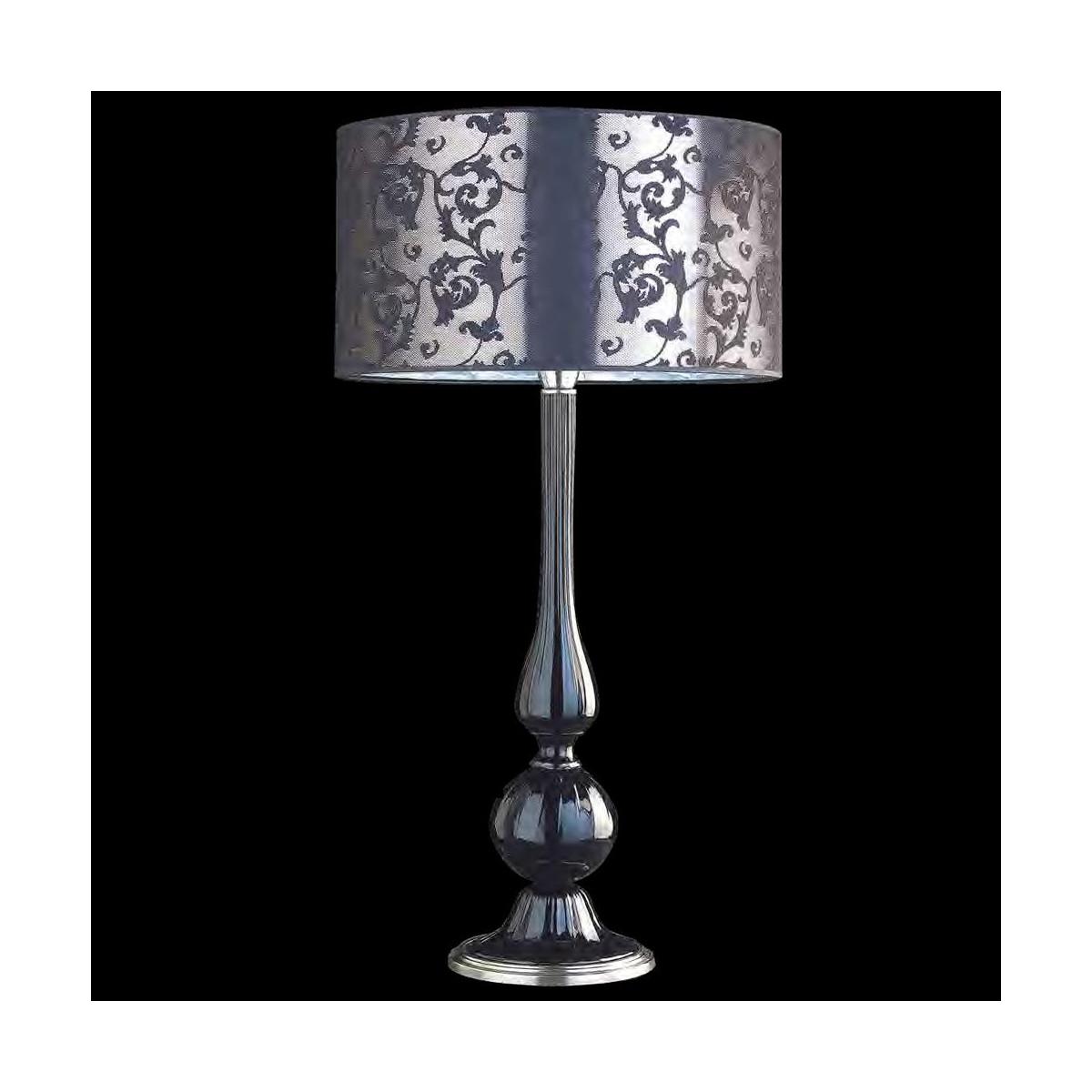 """""""Desiderio"""" lampe de table en verre de Murano - noir"""
