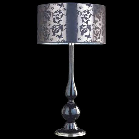 """Desiderio"" Murano glass table lamp - black"