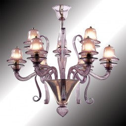 """Mantua"" 12 lights amethyst Murano glass chandelier"