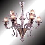 """Mantua"" amethyst Murano glass chandelier"