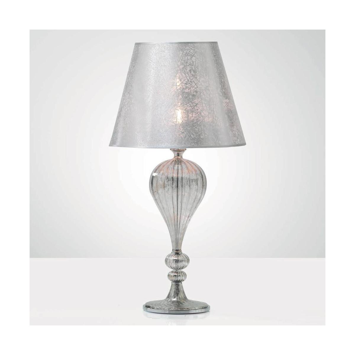 """""""Tosca"""" lampe de table en verre de Murano - platine mat"""