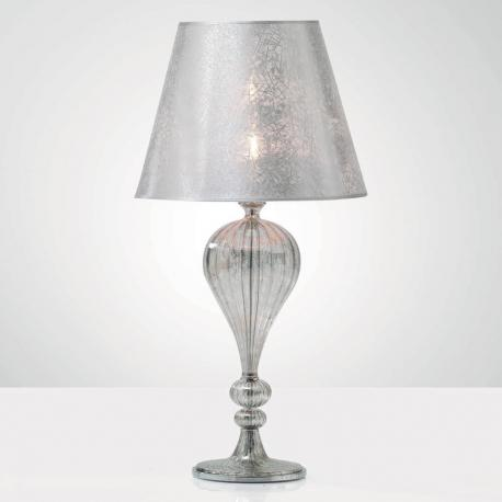"""Tosca"" Murano glass table lamp - mat platinum"