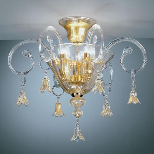 """""""Amelia"""" lampara de techo de Murano"""
