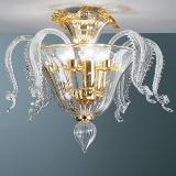 """Oreste"" Murano glass ceiling light"