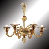 """Nane"" amber Murano glass chandelier"