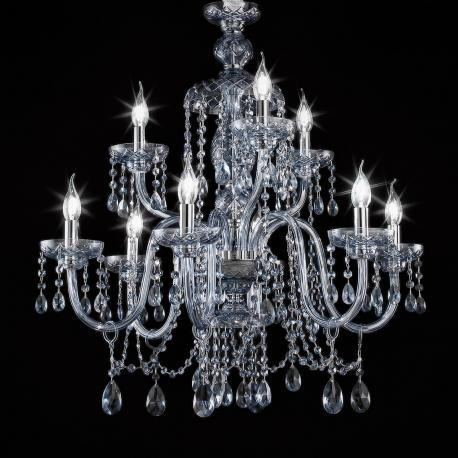 """Cimabue"" crystal chandelier - smoke - 6+3 lights - Asfour crystal"