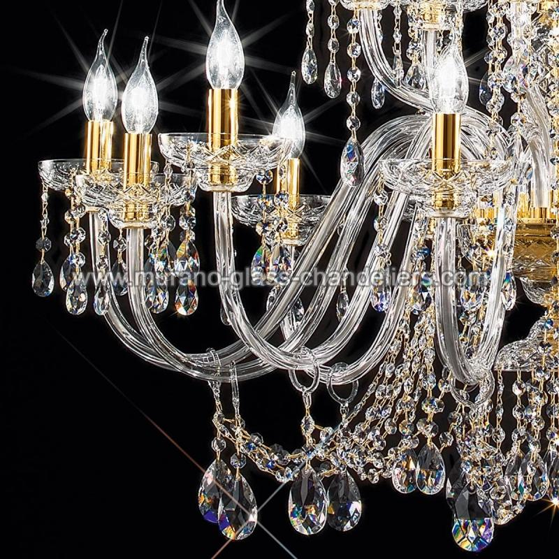 "Small Murano Crystal Chandelier: ""Cimabue"" Large Venetian Crystal Chandelier"